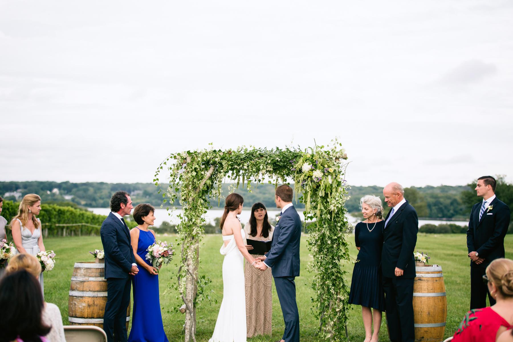 Farm coast wedding